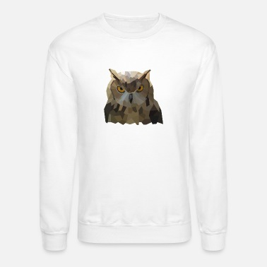 Insight Owl Low-Poly-Style - Unisex Crewneck Sweatshirt