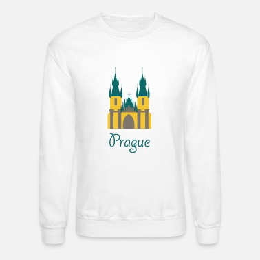 Prague cute prague logo gift present idea - Crewneck Sweatshirt