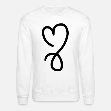Queen heart emojis sketch - Unisex Crewneck Sweatshirt