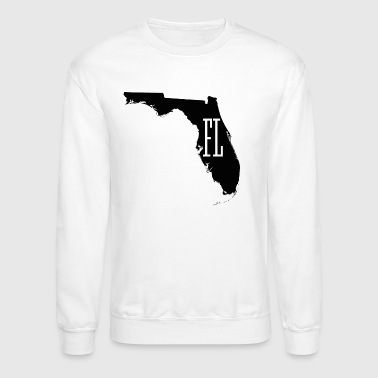 Florida State White Map - Crewneck Sweatshirt