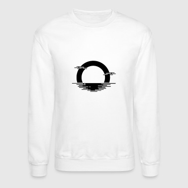 Minimalist A Black Sunset - Crewneck Sweatshirt