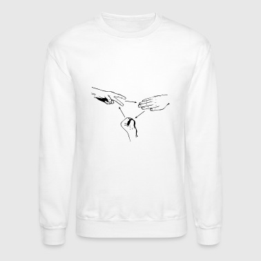 rock paper scissors crewneck Items delivered internationally may be subject to customs processing depending on the item's declared value.
