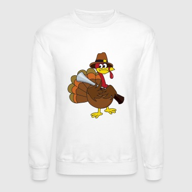 Poultry Turkey Thanksgiving Gobbler Poultry - Crewneck Sweatshirt