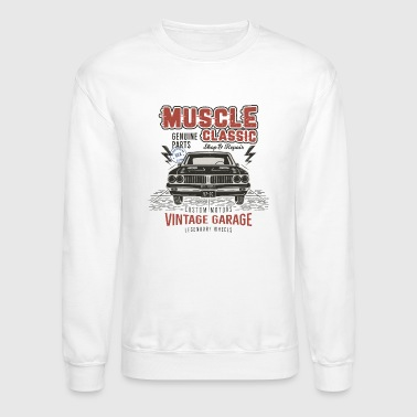 Muscle Car Garage - Crewneck Sweatshirt