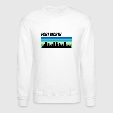 Retro Fort Worth Skyline - Crewneck Sweatshirt