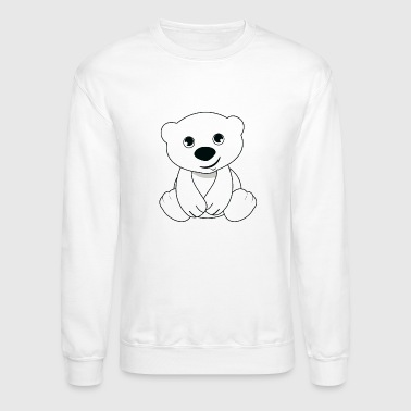 Teddy teddy bear black brown cuddly icebear grizzly - Crewneck Sweatshirt