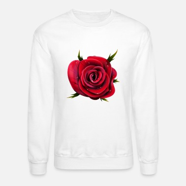 Rose Valentines Day-rose-flower-plant-love - Crewneck Sweatshirt