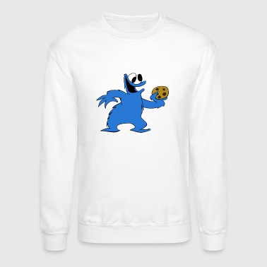 Cookie Monster and a Cookie - Crewneck Sweatshirt