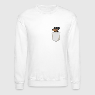 Just Go Everywhere With My Dachshund In Pocket - Crewneck Sweatshirt