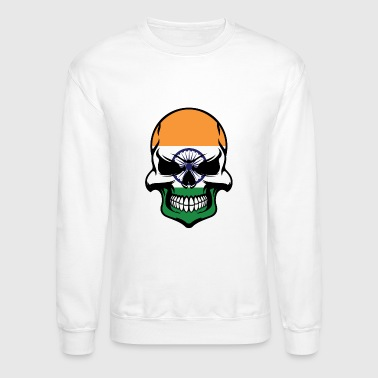 Flag Indian Flag Skull Cool India Skull - Crewneck Sweatshirt