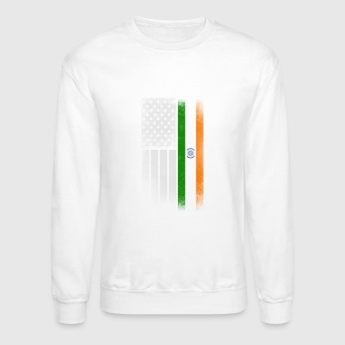 Indian American Flag - Crewneck Sweatshirt