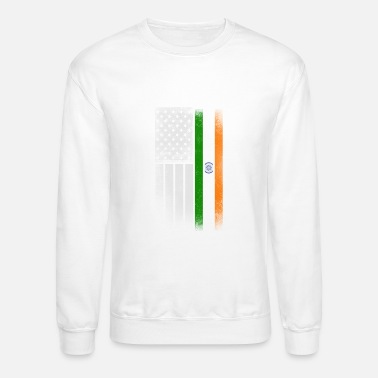 Indian Indian American Flag - Crewneck Sweatshirt