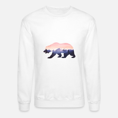 Nature baer mountains national parc grizzly wild nature - Crewneck Sweatshirt