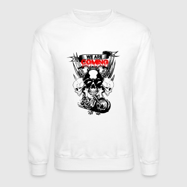 angry skulls and motorcycle owners - Crewneck Sweatshirt