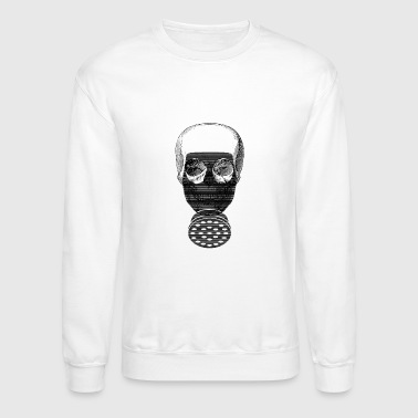 Gas Mask Halloween Skull Gas Mask Chemistry - Crewneck Sweatshirt
