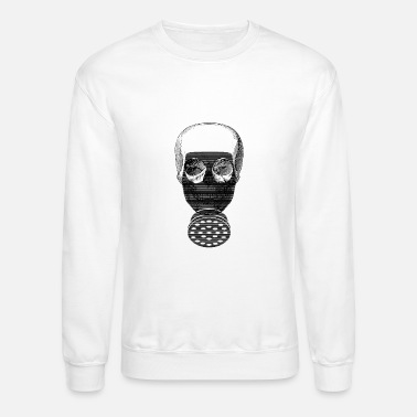 Mask Halloween Skull Gas Mask Chemistry - Crewneck Sweatshirt