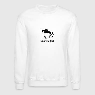 Unicorn Girl Show Jumping - Crewneck Sweatshirt