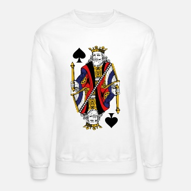 Card Vintage King Of Spades - Crewneck Sweatshirt