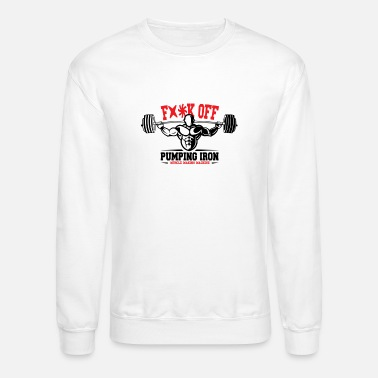 Iron Cross Pumping Iron Muscle Making Machine - Crewneck Sweatshirt