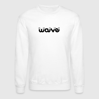 wave waving - Crewneck Sweatshirt