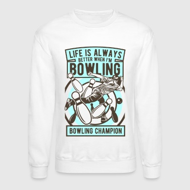 Husband Bowling Champion Tshirt - Crewneck Sweatshirt
