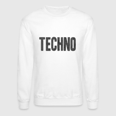 Techno Bass techno - Crewneck Sweatshirt
