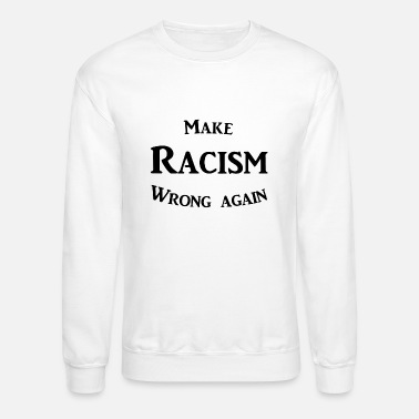Make Racism Wrong Again Print Newborn Kids Crew Neck Sweater Long Sleeve Warm Knitted Top Blouse