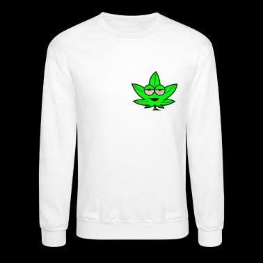 Kush Leaf Cartoon - Crewneck Sweatshirt