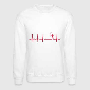 heartbeat archery arrow club team funny quote gift - Crewneck Sweatshirt