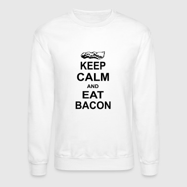 New Design Calm and Eat Bacon Funny Parody Meat - Crewneck Sweatshirt