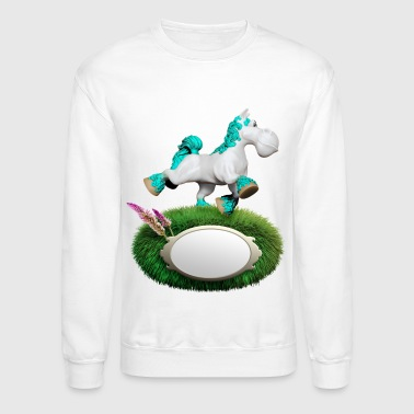 cyan little Pony - Crewneck Sweatshirt