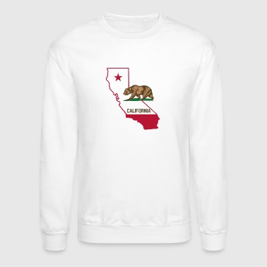 CALIFORNIA LOVE BEAR AND STATE - Crewneck Sweatshirt