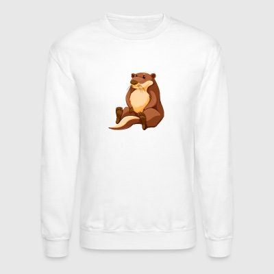 muskrat-animal-wildlife-cool - Crewneck Sweatshirt