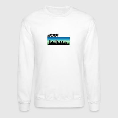 Retro Houston Skyline - Crewneck Sweatshirt