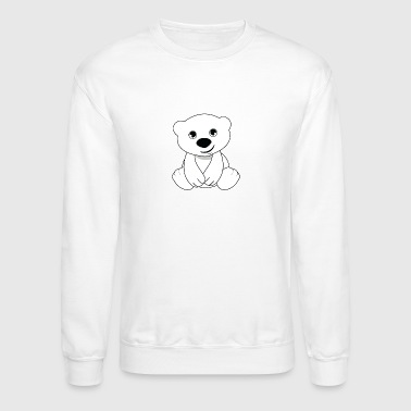 teddy bear black brown cuddly icebear grizzly - Crewneck Sweatshirt