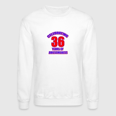 36th birthday design - Crewneck Sweatshirt