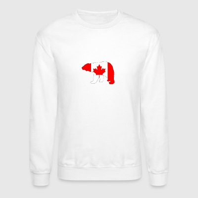 Canada Flag - Polar Bear - Crewneck Sweatshirt