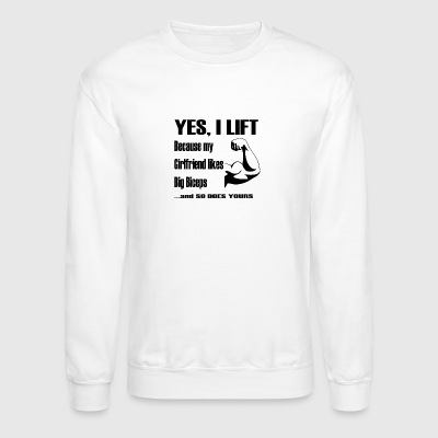 YES, I LIFT - BLACK - Crewneck Sweatshirt