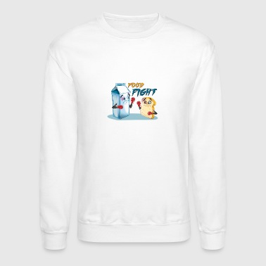 Food Fight Punny - Crewneck Sweatshirt