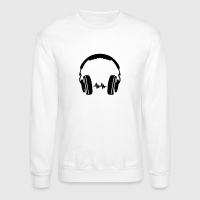 Headphone Silhouette - Crewneck Sweatshirt