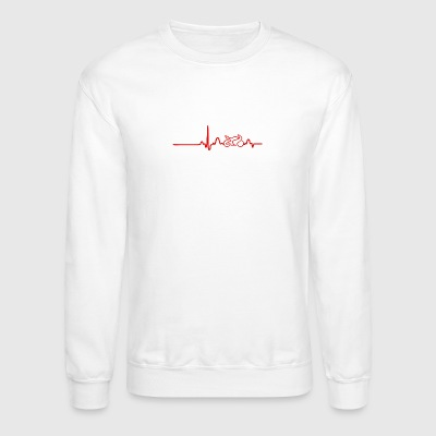 EKG HEARTLINE BIKE red - Crewneck Sweatshirt