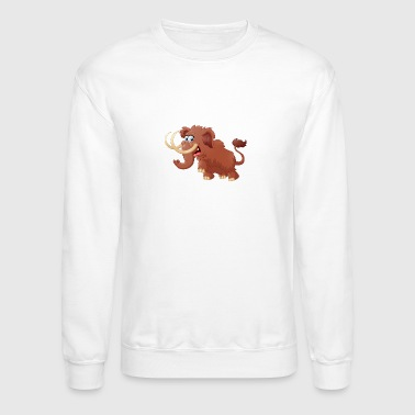 baby-mammoth-animal-wildlife - Crewneck Sweatshirt