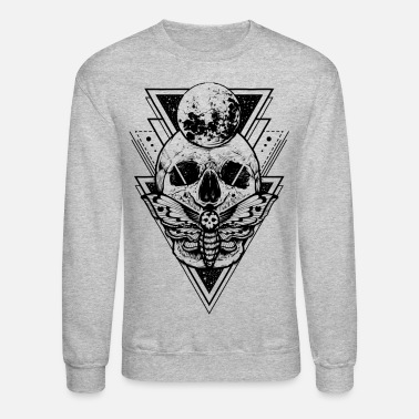 Black And White Collection Skull Sacred - Unisex Crewneck Sweatshirt