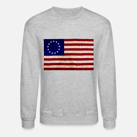 Us Hoodies & Sweatshirts - Founding Fathers Flag - Unisex Crewneck Sweatshirt heather gray