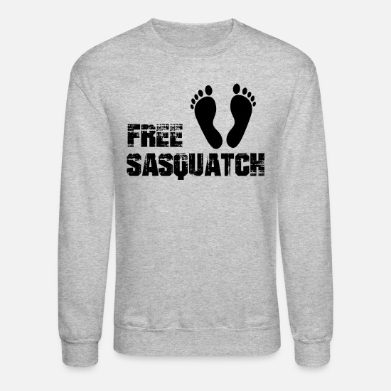 Sasquatch Hoodies & Sweatshirts - Free Sasquatch - Unisex Crewneck Sweatshirt heather gray