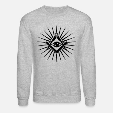 Masonic symbol, all seeing eye, freemason - Unisex Crewneck Sweatshirt
