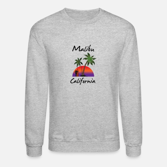 Sunrise Hoodies & Sweatshirts - malibu California - Unisex Crewneck Sweatshirt heather gray