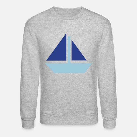 Skipper Hoodies & Sweatshirts - Sailing boat - Unisex Crewneck Sweatshirt heather gray