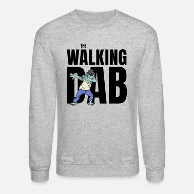 Undead The Walking Dab Halloween zombie boy dabbing black - Unisex Crewneck Sweatshirt