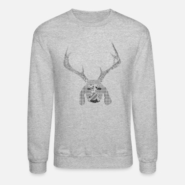 Dog with antlers artsarah - Unisex Crewneck Sweatshirt